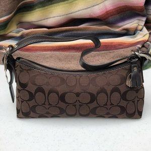 Coach > Genuine Brown Fabric Logo Mini Bag